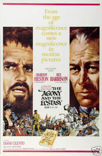 The agony /& the ecstasy Rex Harrison movie poster