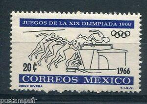 Brillant Mexique Mexico, 1966, Timbre Theme Sport, Jeux Olympiques, Saut, Neuf**