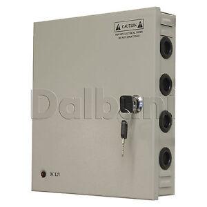 JC-60-12-Wall-Mount-Power-Supply-5-A-12-V-18-Port-for-CCTV-Camera-DVR-System