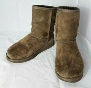 95076c828fb Ugg Australia Boots Classic Short Brown Suede Boots 5251 Girls ...