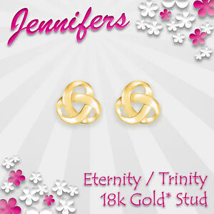 Gold-Trinity-Stud-Earrings-18ct-Eternity-Holy-Celtic-Knot-Earring-Jewellery