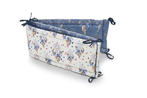 Baby Cot Bumper Wrap Around Protection 100/% Cotton for Baby/'s Bed Indiana