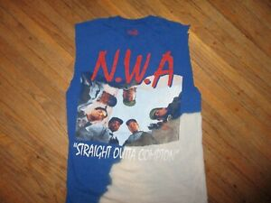 NWA-TIE-DYE-T-SHIRT-Straight-Outta-Compton-Lench-Mob-Retro-90s-Sleeveless-SM-MD