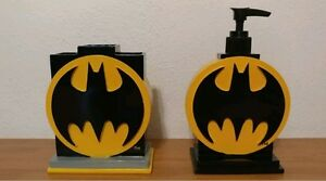 Batman-Logo-Toothbrush-Holder-amp-Lotion-Hand-Wash-Pump-Bathroom-Accessories
