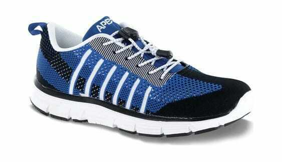 Apex Men's Bolt Athletic Knit Lace Up Sneaker Navy Black Knit Sneakers