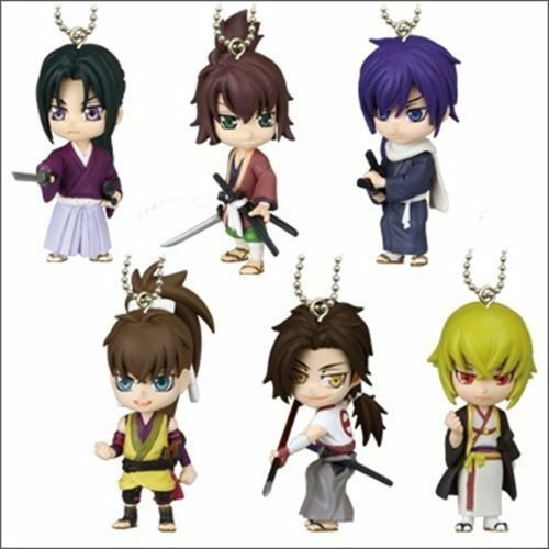 Takara Tomy Hakuouki Shinsengumi Kitan Deformed Mini Figure Key Chain Swing