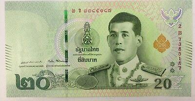 Thailand King Rama X Vajiralongkorn banknote price 20 baht Thai paper money 2018