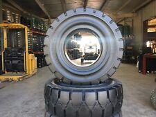 Globestar Forklift Tire 300 15 Black Solid Pneumatic