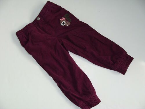 H/&M Baby Girls Girl Cordaroy Burgundy Pants Size 1 1//2-2 18-24 Months NWT NEW