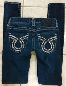 237eb21918d Big Star Vintage Jenae Skinny Stretch Blue Jeans size 24L 24 x 33 | eBay