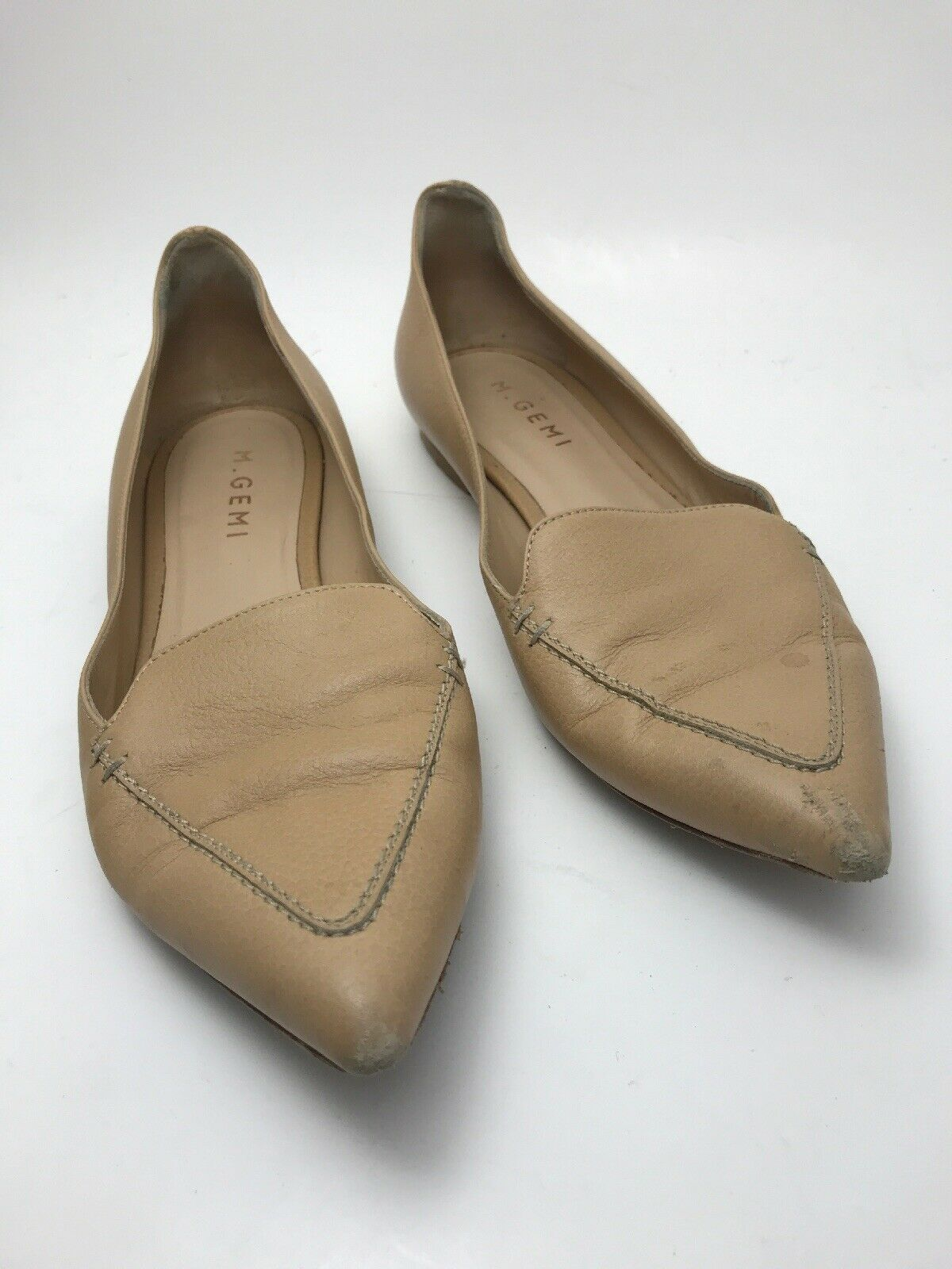 M. Gemi Stellato leather point toe flats Size 37   US 6.5-7  Made in