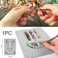 Flocked Bead Design Board Beading Organiser Tray Jewelry Craft Tool 240x320mm @