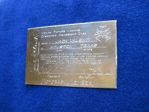 ORIGINAL 18K GOLD SILVER MOVIE PROJECTIONISTS MEMBERSHIP CARD of JACK VALENTI