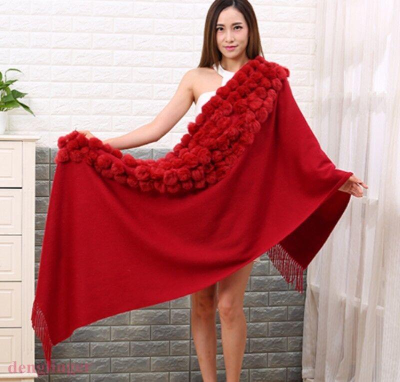 Para Mujer Moda Abrigo de piel sintética caliente de de de invierno Chal Capa Colors Fiesta noche Prendas de abrigo 032d62