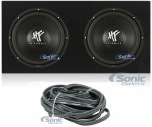 2-Hifonics-HFX12D4-12-034-1600-W-Dual-Voice-Coil-4-Ohm-Voiture-Subwoofers-Scelle-sous-boite-boitier