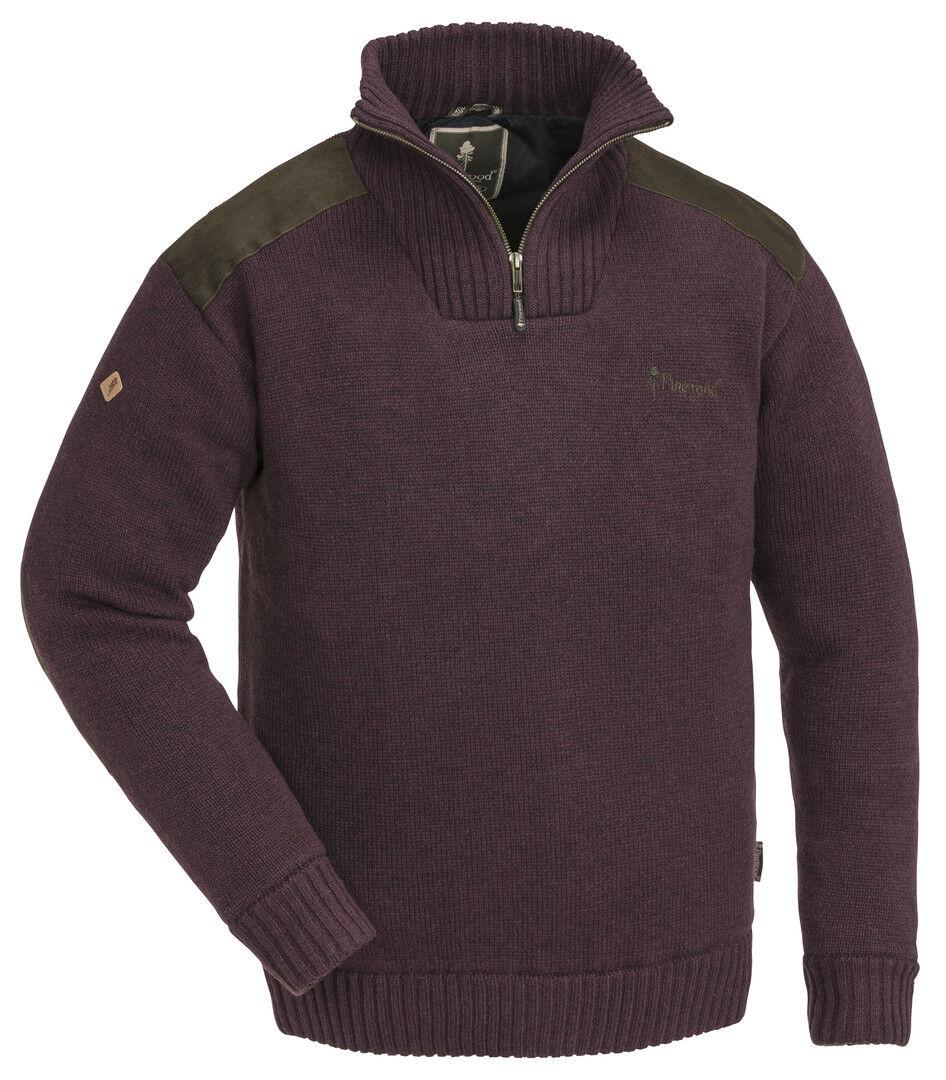 Pinewood Hurricane Sweater Dark Burgundy Melange Ladies Jumper Shooting