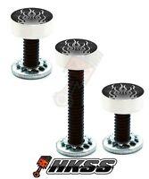 3 Silver Billet Vent Windshield Bolts For 14-up Harley - Rod Flames Gr Nzx