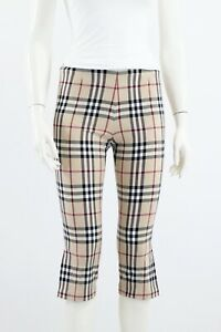 Burberry-Nova-Check-Cotton-Trousers-Pants-Capri-UK-6-US-4-XS-S-Made-in-Italy