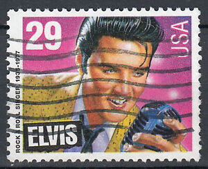 USA-Briefmarke-gestempelt-29c-Elvis-Presley-179