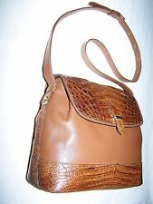 BORSA COCCODRILLO E PELLE100% CROCODILE AND LEATHER SKIN VINTAGE BAG '90