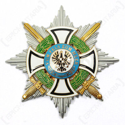 Star of the Grand Cross of the House Order of Hohenzollern - Repro Badge WW1 New