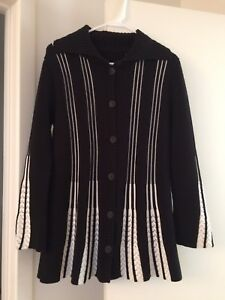 And Piccoli Jacket Top Winter White New Black medi Cardigan Bottoni RwH1qnpC