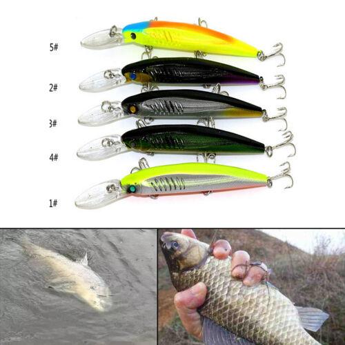 14,5 cm 12,7 g Minnow Fischen locken Kurbelköder Wobbler tiefen Tauchen Köd CBL