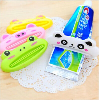 Bathroom Home Tube Rolling Holder Squeezer Easy Cartoon Toothpaste Dispenser GA