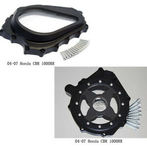 Glass-See-through-Engine-Stator-Cover-Clutch-Side-For-2004-2007-Honda-CBR-1000RR