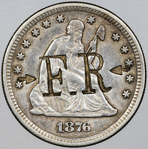 1876-CC-Counter-Stamped-SEATED-LIBERTY-QUARTER-SILVER-AMAZING-MR