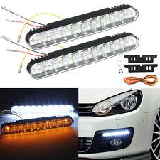 2X 12V 12W 30LED Auto Daytime Running Bulb DRL Daylight Lamp + Turn signal Light