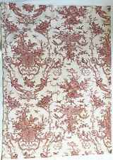 Williams-Sonoma French Country Burgundy Toile Tablecloth 68 X 46