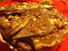 1# HOMEMADE CHOCOLATE COVERED ALMOND NUT TOFFEE BRITTLE!  BUTTERCRUNCH! FRESH!