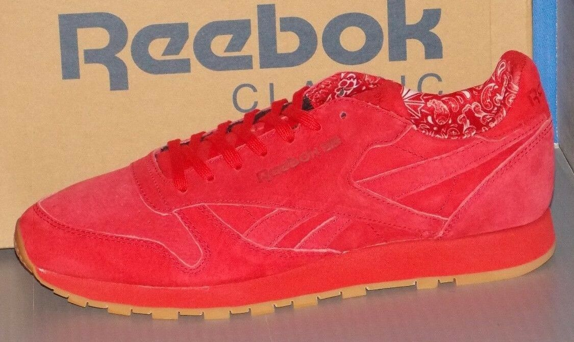 MENS REEBOK CL LEATHER TDC in colors SCARLET / WHITE - GUM SIZE 8