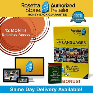Details about Rosetta Stone® Learn Spanish 12 Month UNLIMITED Complete  Course App FREE BONUS