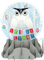 Snowy Owl Large Snowglobe - Up With Paper Pop-up Christmas Card By Up With Paper