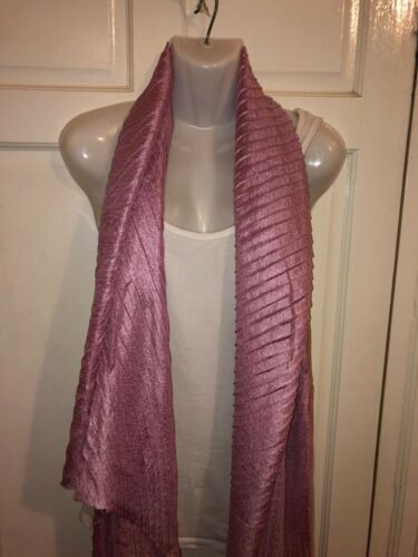 WOMENS LADIES LONG DUSTY PINK SILKY SHINY PEARL SCARF,SHAWL,SHOULDER WRAP