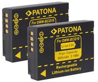 2 X Akku Panasonic Lumix Tz10, Tz18, Tz22, Tz25, Tz31, Tz35, Tz36- Dmw-bcg10e