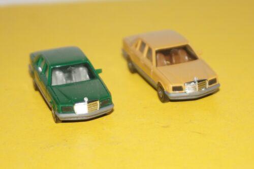 BOX26//19 cremegelb 500SE grün Herpa 1:87 2x Mercedes-Benz 280S