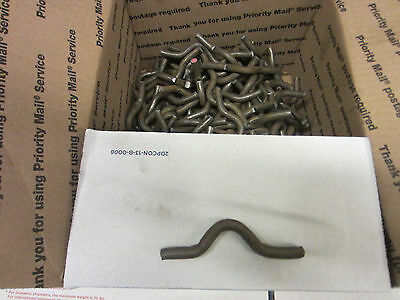Weld on fence clips size 3//8 by 3//4 inch lot of 50