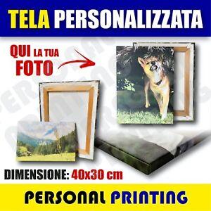 FOTO-QUADRO-40x30cm-STAMPA-SU-TELA-TELAIO-in-LEGNO-REGALO-Personalizzato-CANVAS