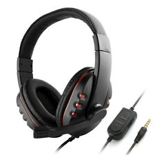 3.5mm Wired Gaming Headphones Over Ear Game Headset Noise Canceling Mic Z2L8
