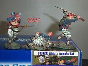 Vitrine des collectionneurs Cs00295 Blés Toger Zouaves Jouet Soldat Figure Blessé Ensemble