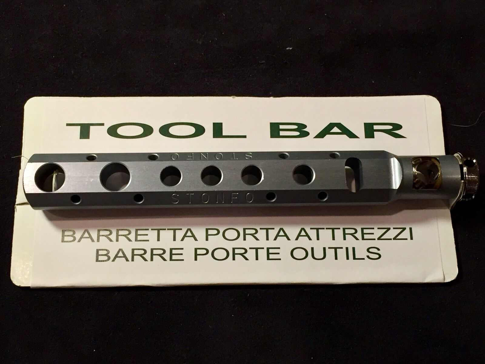 STONFO TOOL BAR. NEW. FITS ANY STANDARD VISE  STEM. ORGANIZE YOUR FLY TYING BENCH  classic style