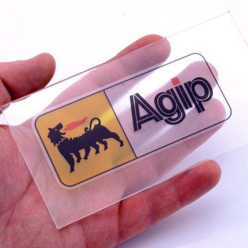 AGIP Olio Chiaro Auto Adesivo Vinile Decalcomanie x2 100mm Notebook Pannello Finestra