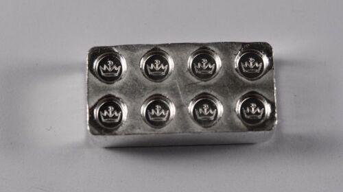 "1 oz .999 Fine Silver Building Block Bar /""Lego/"" Stackable Unique Gift"