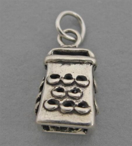 CHEESE GRATER Sterling Silver Charm Pendant 3D Cook Chef 4554