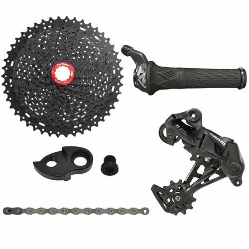 SRAM NX 1x11 Spd Groupset W  Sunrace 11 -46T Kassette, Grip Shift
