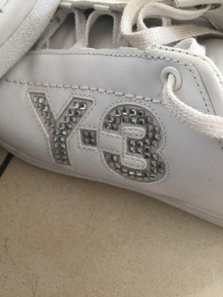 Adidas Y3 7 Yohji Yamamoto Schuhe UK 7 Y3 D 40 2/3 Weiss 6149e8