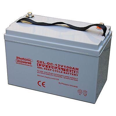 100ah 12v Gel Deep Cycle Battery For Motorhome Caravan